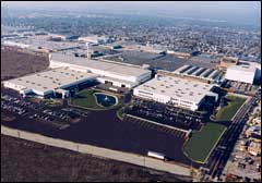 Aerial view of the Frain Group's 1.5 million square feet of used packaging equipment and processing machinery